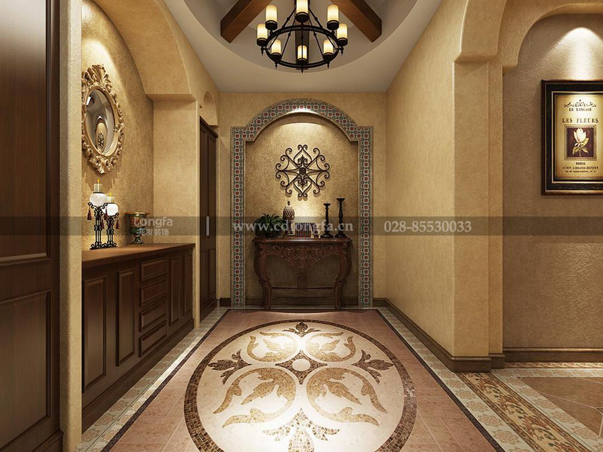 美城悦荣府460平方米西班牙风格装修设计