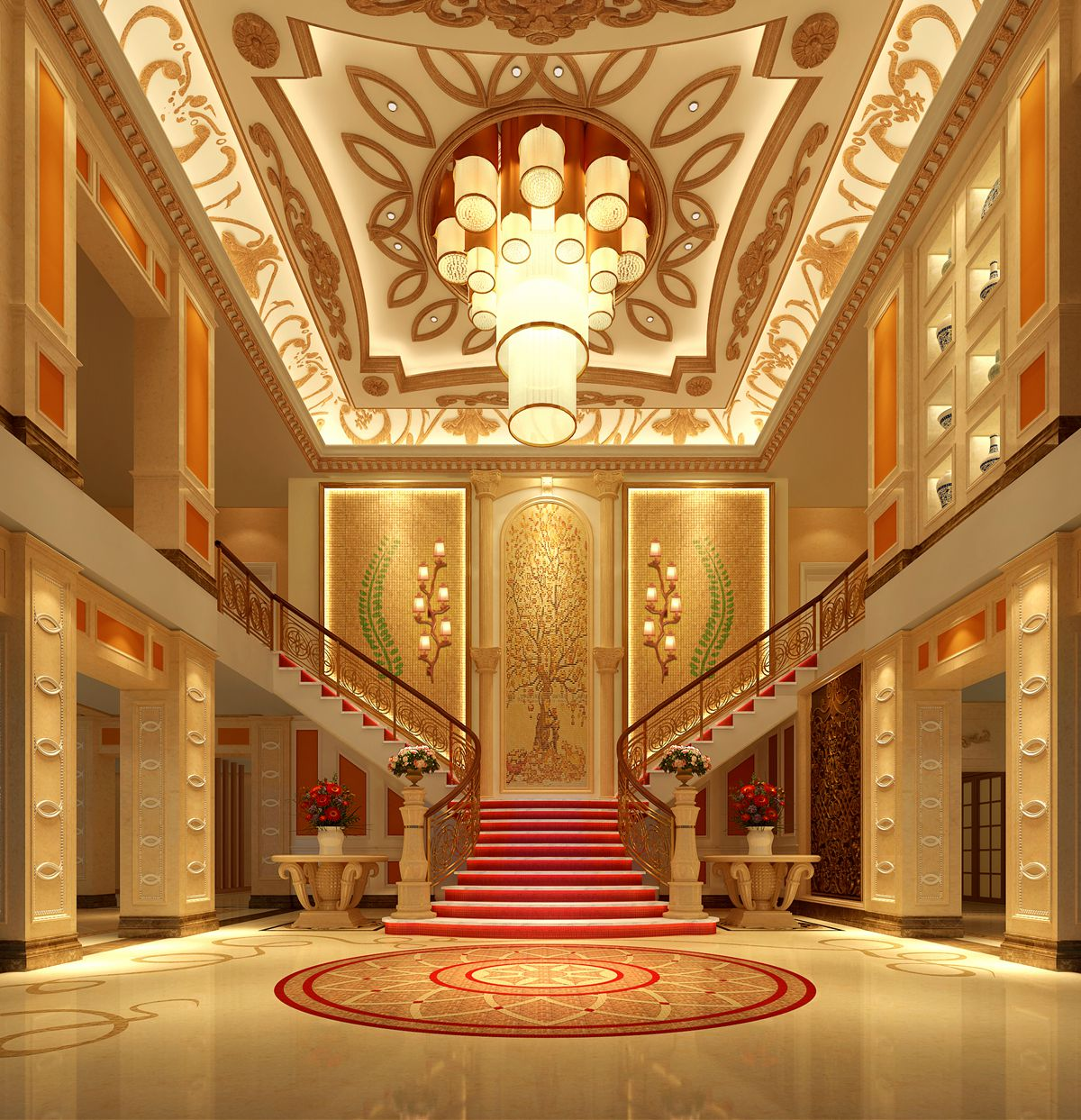 华阳蔚蓝卡地亚800平方米奢华法式风格设计
