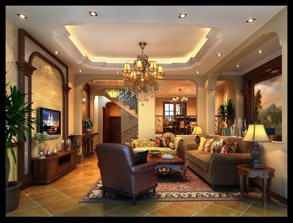 银杏苑300平美式风格装修案例