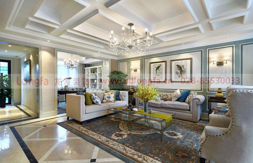 东山国际300平米别墅新古典现代美式混搭风格