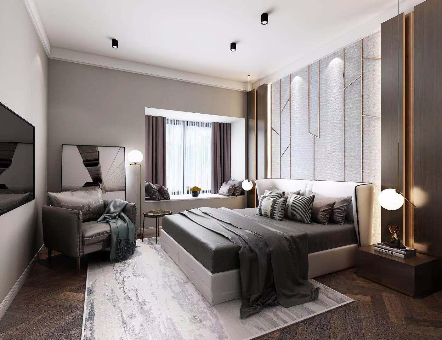 南湖国际400平现代风格大平层装修案例