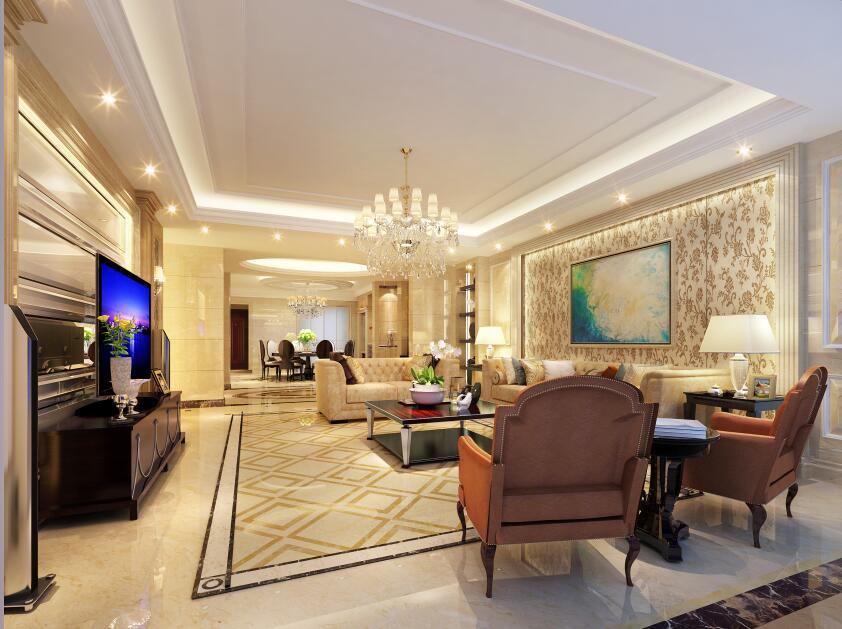 华侨城纯水岸200平别墅现代欧式风格装修案例