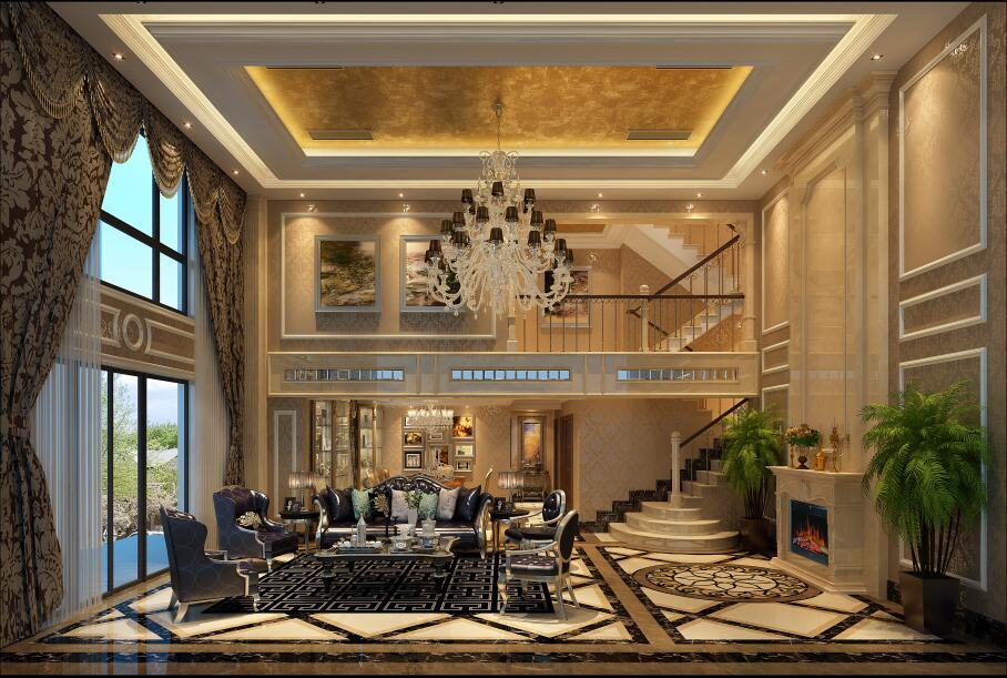 华侨城东岸320平别墅欧式风格装修案例