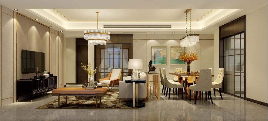 鲁能城公寓装修设计