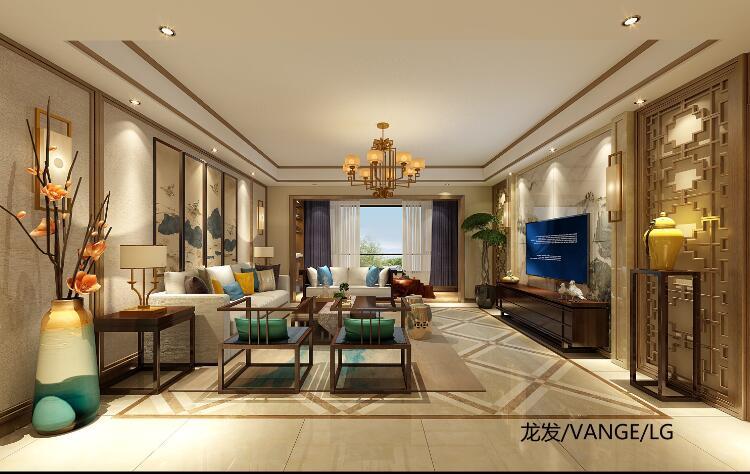 南城都汇公寓现代中式装修设计