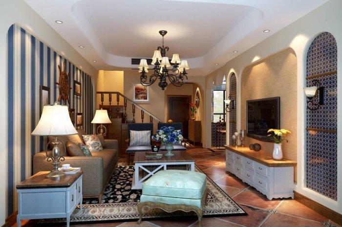 汉嘉国际别墅220平米美式风格装修案例